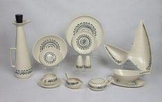 "metlox ""aztec"" dinnerware (poppy trail)"