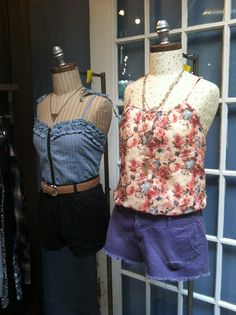 Floral tank and short shorts Store Mannequins, Short Shorts, Floral, Tops, Women, Fashion, Moda, Fashion Styles, Flowers
