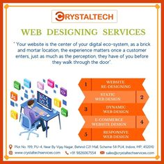 Web application Development refers to building a website and deploying it on the web. For more info, we will provide you best Web & Mobile Application for your business. Sales E-mail:- sales@crystaltechservices.com Contact E-mail:- contact@crystaltechservices.com Whatsapp or Call:- +91 9826067554 +91 9753349215 Website:- www.crystaltechservices.com Follow Hashtag #crystaltechservicesprivatelimited For more information. #webdevelopment #agencywork #webdevelopmentcompany Web Application Development, Web Development Company, Mobile Application, It Service Provider, Brick And Mortar, Building A Website, Best Web, Perception, Web Design