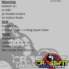 #wod #cftundertown #crossfit #workout #weightlifting #skills #conditioning #ladder #amrap #roguefitness #xeniosusa #netintegratori #progenex #supportyourlocalbox