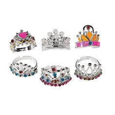 Princess+Crown+Rings+-+OrientalTrading.com Part of the favor bag. Gorgeous, adjustable, and metal---not plastic.