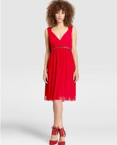 Vestido de mujer Easy Wear de tul con strass