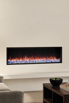 Regency Skope's single-sided fireplace creates minimalist wall installation for a clean and contemporary, built-in aesthetic. Contemporary Electric Fireplace, Built In Electric Fireplace, Electric Fireplace Heater, Electric Fireplaces, Modern Fireplace, Wall Installation, Regency, Basement