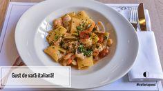 Pasta with seafood. Seafood Pasta, Menu Restaurant, Bruschetta, Pasta Salad, Joi, Cantaloupe, Ethnic Recipes, Noodle Salads, Macaroni Salad