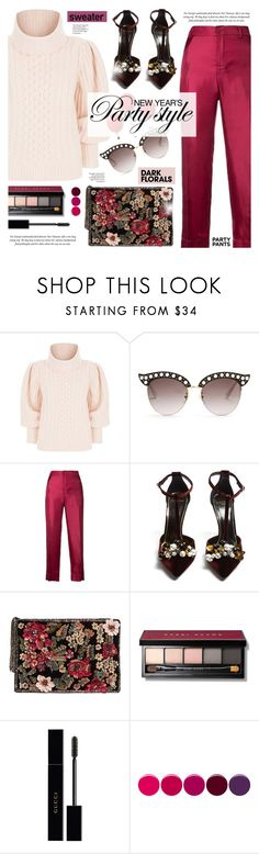 """""""New Year's Party Style"""" by cly88 ❤ liked on Polyvore featuring Temperley London, Gucci, F.R.S For Restless Sleepers, Lanvin, MANGO, Bobbi Brown Cosmetics and Deborah Lippmann"""