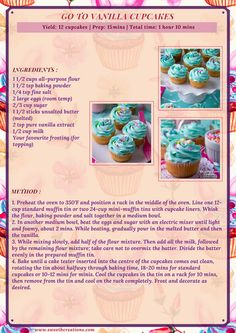 Fun Baking Recipes, Cake Mix Recipes, Bakery Recipes, Sweet Recipes, Dessert Recipes, Milo Recipe, Cupcake Recipes From Scratch, Cupcake Flavors, Vanilla Cupcakes