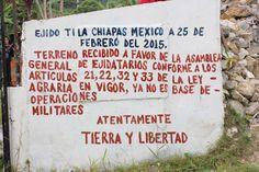 EJIDO TILA,  PUEBLO CH'OL: RESTITUCIÓN, NO INDEMNIZACIÓN, LA TIERRA NO SE VENDE.