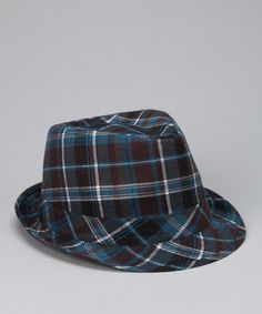 Blue Plaid Fedora by Frilly Frolic: Girls' Apparel on #zulily today!