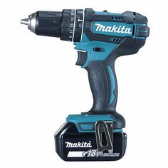 Makita - Perceuse visseuse à batterie 18 V Li-Ion 5 Ah mm - Dremel, Led Licht, Work Tools, Makita, Van, Hammer Drill, Drums, Easy Diy, Stricken