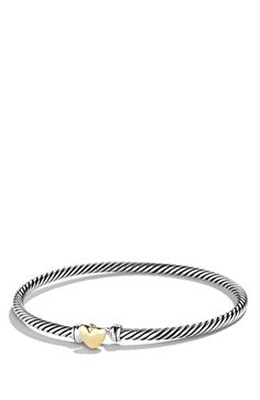 David Yurman 'Cable Collectibles' Heart Bracelet with Gold | Nordstrom One day...