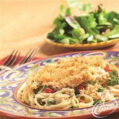 Creamy Herbed Salmon Tetrazzini from Crisco®