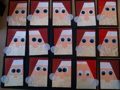 Santa Christmas Art Project for kids