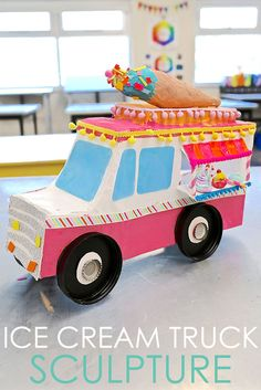 Ice Cream Truck Sculpture