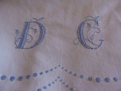 French Antique Bed Linen Monogram DC by JacquelineMcEwan on Etsy, $86.67