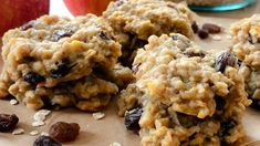 Havrekjeks med eple - Barnas Mat Oatmeal, Breakfast, Food, The Oatmeal, Morning Coffee, Rolled Oats, Essen, Meals, Yemek