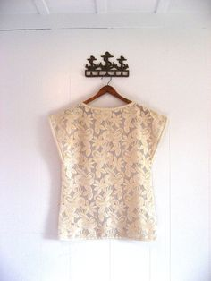 Chloé France vintage embroidered creamy white blouse