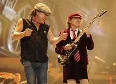 Legendary rock band AC/DC is back with the return of frontman Brian Johnson along with recording sessions of rhythm guitarist Malcolm Young! Angus Young, Brian Johnson, Pop Punk, Ac Dc Young, Ac Dc Guitarist, Malcolm Young, Ac Dc Rock, Bon Scott, Greatest Rock Bands