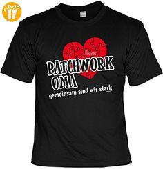 Oma Tshirt Sprüche - lustiges Funshirt Großmutter : Patchwork Oma gemeinsam sind wir stark -- Geschenk Geburtstag Oma T-Shirt Gr: S (*Partner-Link)