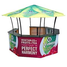 Purchase the Mushroom kiosk package from Godfrey Group. This trade show gazebo is fully customizable and great for trade shows, outdoor events, fairs and more! Mobile Kiosk, Trade Show Booth Design, Exhibit Design, Custom Canopy, Kiosk Design, Pop Up Tent, Canopy Tent, Environmental Design, Outdoor Events