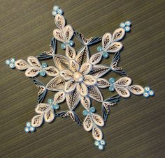 Quilled Snowflake Ornament by HeirloomQuilling on Etsy