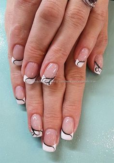 20 + French Gel Nail Art Designs, Ideas, Trends & Stickers 2014 | Gel Nails
