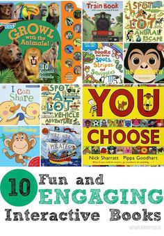 10 Fun and Engaging Interactive Books - In The Playroom
