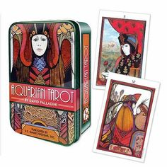 Aquarian Tarot in blikken doosje.The compelling art deco imagery of the iconic Aquarian Tarot in a Tin, first introduced in is now presented in a charming keepsake tin. Tarot Card Spreads, Tarot Cards, Celtic Tarot, Astro Tarot, Frequent Flyer Program, Tarot Learning, Learn Art, Oracle Cards, Tarot Decks