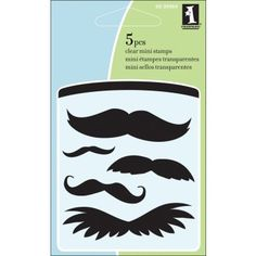 clear mini mustache stamps for scrapbooking
