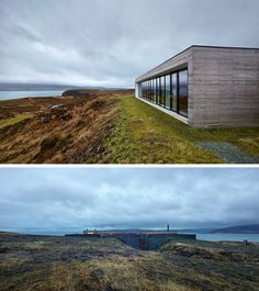 13 Totally Secluded Homes To Escape From The World // Overlooking Loch Dunvegan in Scotland is Cliff House, a secluded home designed by Dualchas Architects.