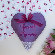 Silk Lavender Heart Purple