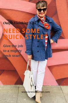 Styling Outfits with Neck Scarves - Brenda Kinsel