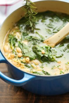 Why would you eat a salad when you can get your greens from a warm, delicious soup? Get the recipe from Damn Delicious.   - CountryLiving.com