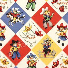 Western Print Flannel Fabric | ... fabric cowboys western - Retro Fabric - Fabric - kawaii shop modeS4u