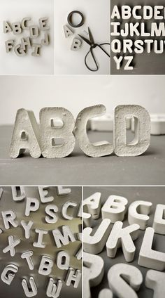 Some of you reading this, I know, are DIY-ers, so here is something for you! Cement letters made from silicon molds. They would make some nice looking fridge magnets, if you ask me. Or you could ma...