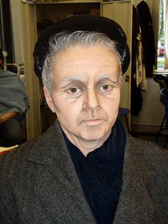 Theatrical Makeup - This is a great example of Aging Makeup...probably too intense for our intimate venue, but we love the results anyway! #theatricalmakeup #carrollwoodplayers