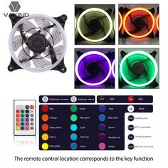 Best Price 120*120*25mm DC 12V Computer PC Case Cooling Fan RGB LED Light Cooler Radiator Quiet Ventilador with IR Remote Controller #120*120*25mm #Computer #Case #Cooling #Light #Cooler #Radiator #Quiet #Ventilador #with #Remote #Controller