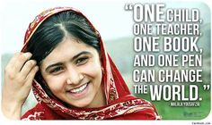 For International Day of the Girl, let's all follow Malala's lead.  #UN #malala #one