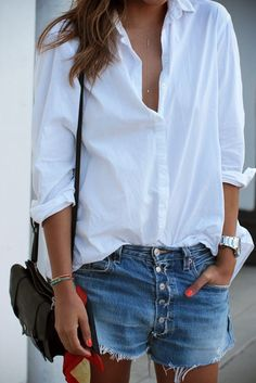 Basique d'armoire: la chemise blanche