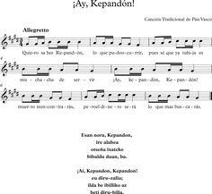 ¡Ay, Kapendón!. Canción Tradicional del País Vasco.