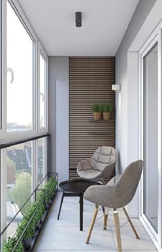 Inspiring Minimalist Home Balcony Design Ideas have an important role in your home because it is located in front of the house. Although only as an additional function, the balcony design must stil… Apartment Balcony Decorating, One Bedroom Apartment, Apartment Interior Design, Modern Interior Design, Interior Design Living Room, Interior Balcony, Apartment Balconies, Interior Stylist, House Balcony Design