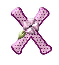 CH B *✿*Alfabeto floral rosas...X