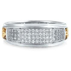 Sterling Silver Ring 4-Row Cubic Zirconia CZ Fashion Right Hand Ring from Berricle - Price: $75.99