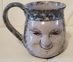 Rita Ward Arkansas Pottery Face Mug coffee tea Terra Studios Fayetteville Face Mug, Arkansas, Studios, Pottery, Tea, Mugs, Coffee, Tableware, Ceramica