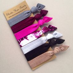 The Malia Hair Ties-Ponytail Holder Collection - 7 Elastic Hair Ties by Elastic Hair Bandz on Etsy