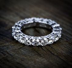 Our beautiful Custom Diamond Eternity Wedding Ring in White Gold! True love is…