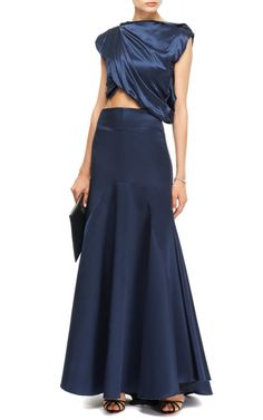 M'O Exclusive: Nomadic Satin Maxi Skirt and Top by Ellery - Moda Operandi
