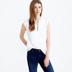 Shop the Collection Thomas Mason for J.Crew sleeveless top at J.Crew and see the entire selection of Women's Shirts. Shop Women's clothing & accessories at J. Womens Sleeveless Tops, Crew Clothing, Look Cool, Capsule Wardrobe, Wardrobe Ideas, Pulls, J Crew, Fashion Outfits, Clothes For Women