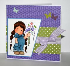 Adorable handmade any occasion card with Tilda by rbowen on Etsy
