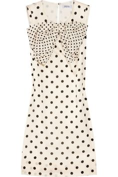 Sonia by Sonia Rykiel | Polka-dot cotton and silk-blend dress | NET-A-PORTER.COM