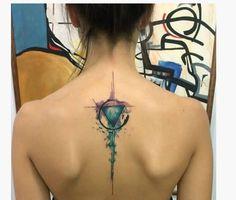 unique Watercolor tattoo - Shoulder Tattoo Designs For Girls - Star tattoos seem to be popular in the form . Dreieckiges Tattoos, Trendy Tattoos, Body Art Tattoos, Tattoos For Women, Star Tattoos, Tatoos, Beste Tattoos, Galaxy Tattoos, Stylish Tattoo